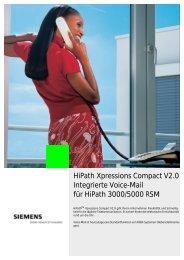 HiPath Xpressions Compact V2.0 Integrierte Voice-Mail für HiPath ...
