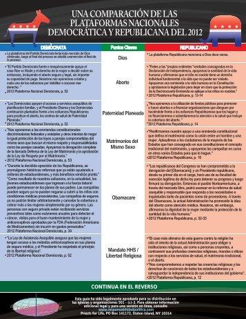 una comparación de las plataformas nacionales ... - Priests for Life