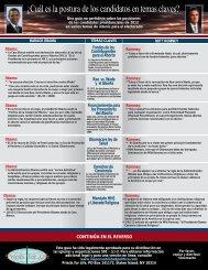 ¿Cuál es la postura de los candidatos en temas claves?