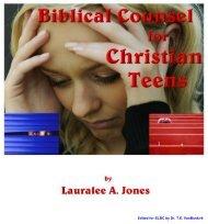 Biblical Counsel for Christian Teenagers - Salt Lake Bible College