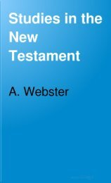 Studies in the New Testament - Salt Lake Bible College
