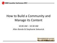 How to Build a Community and Manage its Content