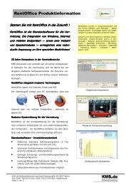 RentOffice Produktinformation - KMS.de SoftwareEntwicklung GmbH
