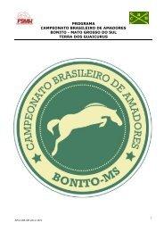 Bonito - Mato Grosso do Sul - HipismoBr