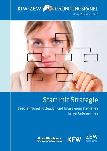 KfW/ZEW-Gründungspanel 2012