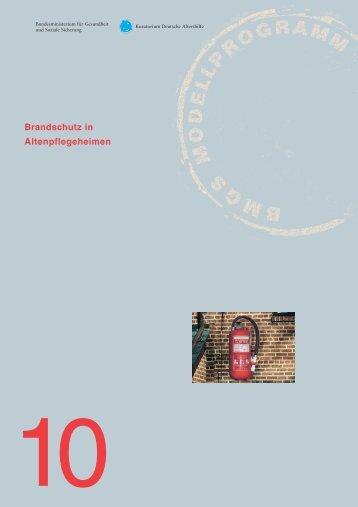 Brandschutz in Altenpflegeheimen - Kuratorium Deutsche Altershilfe