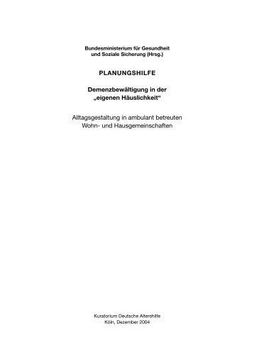 Demenzbewältigung in der - Kuratorium Deutsche Altershilfe