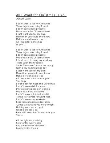 All I Want For Christmas Is You Lyrics.All I Want For Christmas Is You Lyrics