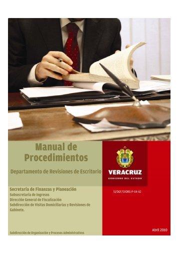 Manual de Procedimientos - Gobierno del Estado de Veracruz