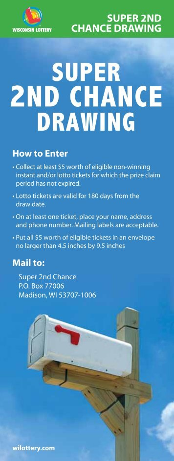 SUPER 2ND CHANCE DRAWING - Wisconsin Lottery