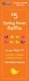Spring Fever Raffle - Wisconsin Lottery