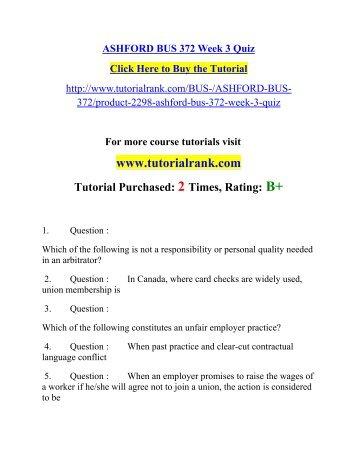 bus 599 week 3 quiz