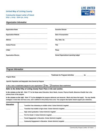 Distance Letter of Intent and Student Agreement Form