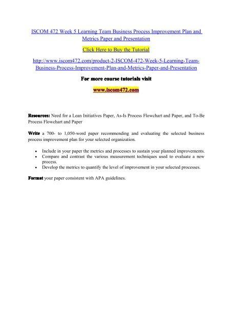 business process improvement plan