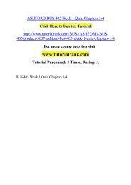 ASHFORD BUS 405 Week 1 Quiz Chapters 1-4/ Tutorialrank