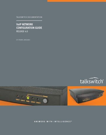 VoIP NETWORK CONFIGURATION GUIDE