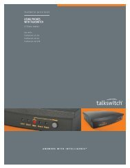 USING PHONES WITH TALKSWITCH
