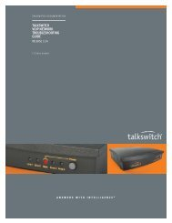 TALKSWITCH VOIP NETWORK TROUBLESHOOTING GUIDE