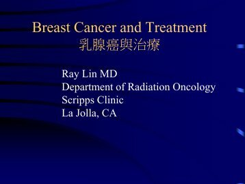 Breast Cancer and Treatment