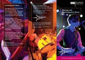 Starring with Cambridgeshire Music
