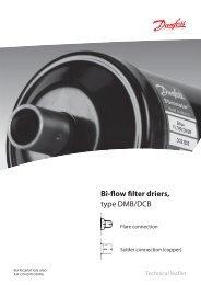 Bi-flow filter driers type DMB/DCB