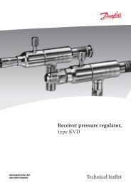 Receiver pressure regulator type KVD Technical leaflet