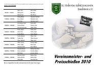 Vereinsmeister- und Preisschießen 2010 - St. Hubertus ...