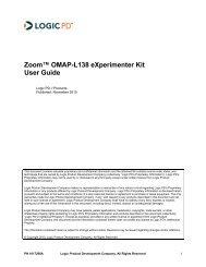 Zoom OMAP-L138 eXperimenter Kit User Guide