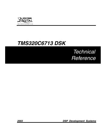 TMS320C6713 DSK Technical Reference