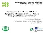 Business Incubation in Belarus - ibi net