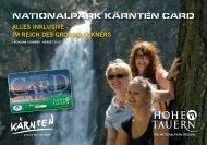 NATIONALPARK KÄRNTEN CARD - Hotel Hubertus