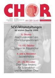 SCV-Veranstaltungen - SCV Saarländischer Chorverband e.V.