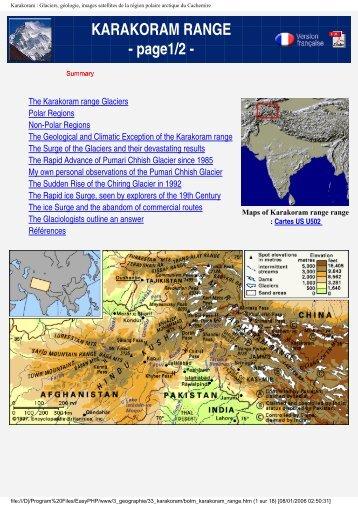 KARAKORAM RANGE - Blank on the map - Free