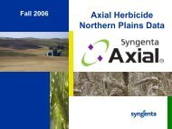 Axial Herbicide Northern Plains Data