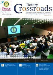 Vol.49 No 09 - the Rotary Club of Singapore