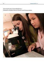 Internationale Umweltbildung – Zukunft schaffen durch Wissen und Kooperation