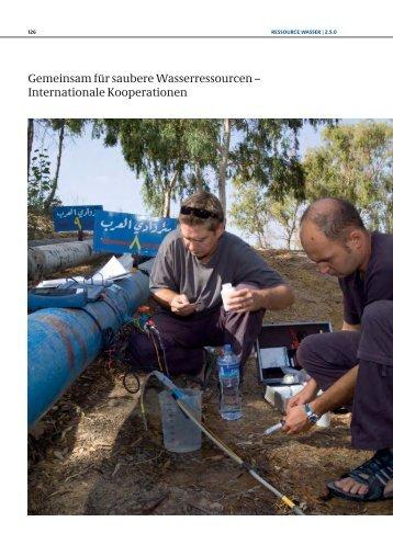 Gemeinsam für saubere Wasserressourcen – Internationale Kooperationen