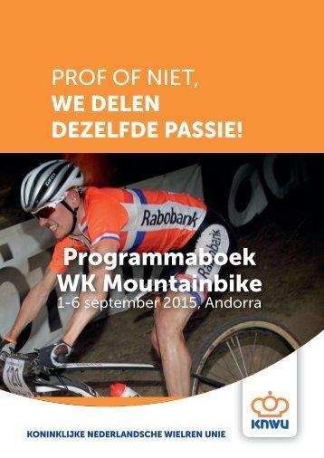 Programmaboek WK Mountainbike
