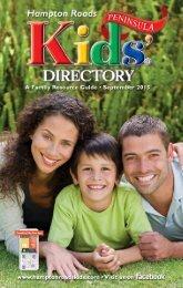 Hampton Roads Kids' Directory: September 2015 Peninsula Edition