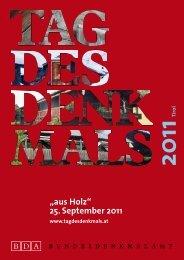 """aus Holz"" 25. September 2011 - Tag des Denkmals"