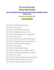 MKT 230 ENTIRE COURSE/Uoptutorial