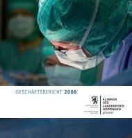 geschäftsbericht 2008 - Kliniken des Landkreises Göppingen gGmbH