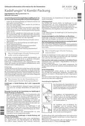 KadeFungin®6 Kombi-Packung - Dr. Kade