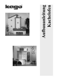 AA Kachelofen V001-0511sw - KAGO Wärmesysteme GmbH