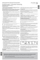 Beipackzettel KadeFungin 3 Kombi-Packung - Dr. Kade