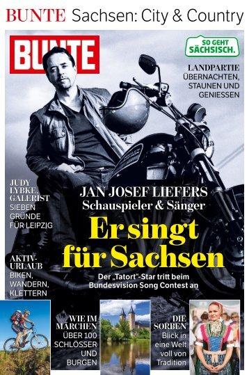 Die Sonderausgabe BUNTE 2015 des Freistaates Sachsen