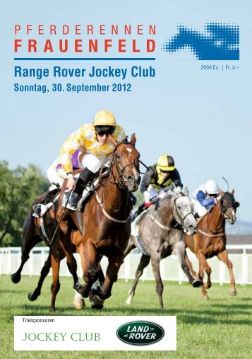 Range Rover Jockey Club