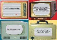 Familiensonntage Workshopangebote Kindergeburtstag - Jena