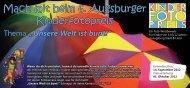 Mach mit beim 6. Augsburger Kinderfotopreis - JFF