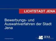 Bewerbungs- und Auswahlverfahren der Stadt Jena